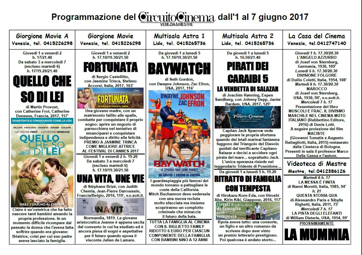 Programmazione del Circuito Cinema Venezia Mestre dall'1 al 7 giugno 2017_2