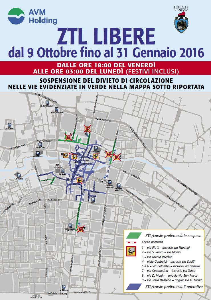 Limited Traffic Zone and Parking in Mestre | Events ...