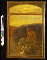 GAETANO PREVIATI  (1852 – 1920) Leda, 1907 Pastello su carta intelata Fondazione Musei Civici di Venezia, Ca' Pesaro - Galleria Internazionale d'Arte Moderna