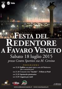 Redentore a Favaro Veneto il manifesto