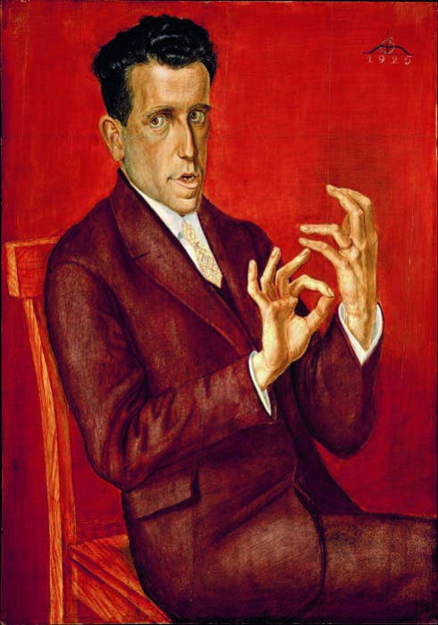 "Otto Dix, ""Portrait of the Lawyer Hugo Simons"" 1925"