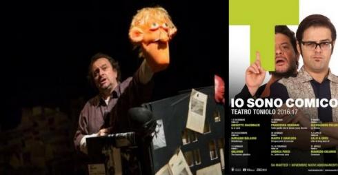 Natalino Balasso e locandina della rassegna teatrale
