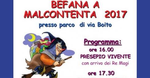 Locandina della Festa della Befana a Malcontenta