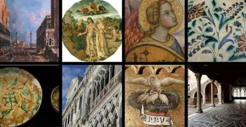 Immagini di opere della Galleria Franchetti alla Ca'd'Oro