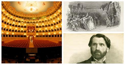 Al centro teatro la Fenice sopra seligrafia opera Attila sotto Giuseppe Verdi