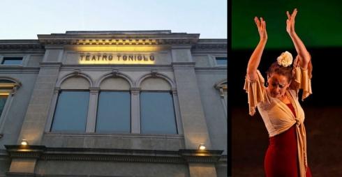 Facciata del Teatro Toniolo e Ballerina, foto di scena