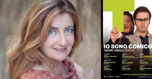 Francesca Reggiani e locandina della rassegna teatrale