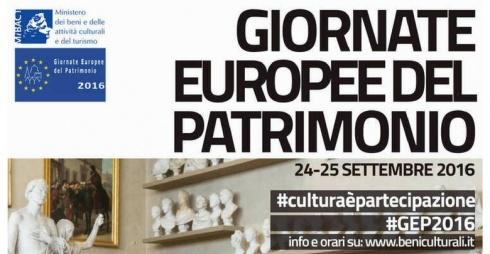 Giornate Europee del Patrimonio 2016 locandina