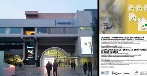 Facciata del Centro Culturale Candiani e Locandina dell'evento