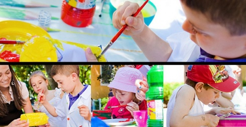 Immagini di laboratori alla Peggy Guggenheim - dal sito ufficiale
