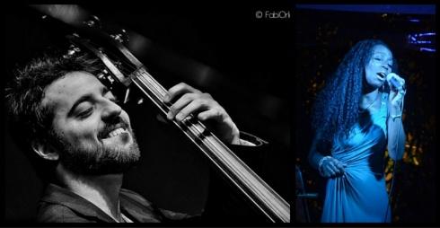 """A sinistra Luca Alemanno Trio e a destra Heloisa """"Luma"""" Lourenço"""