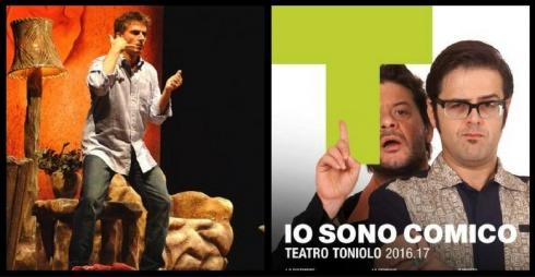 Maurizio Colombi e locandina rassegna teatrale