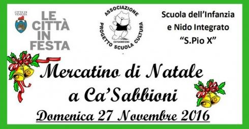 Mercatino di Natale a Ca'Sabbioni - locandina