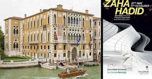 Palazzo Cavalli Franchetti e Locandina Mostra Zaha Hadid