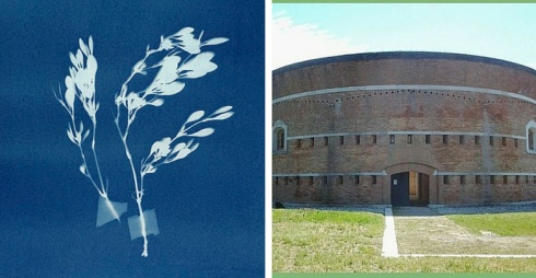 A sinistra chema delle zone di housing fotografate, adestra facciata Torre Massimiliana