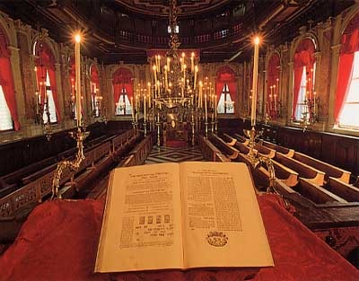 interno di una sinagoga
