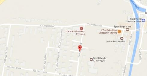 Via Boito da Google maps