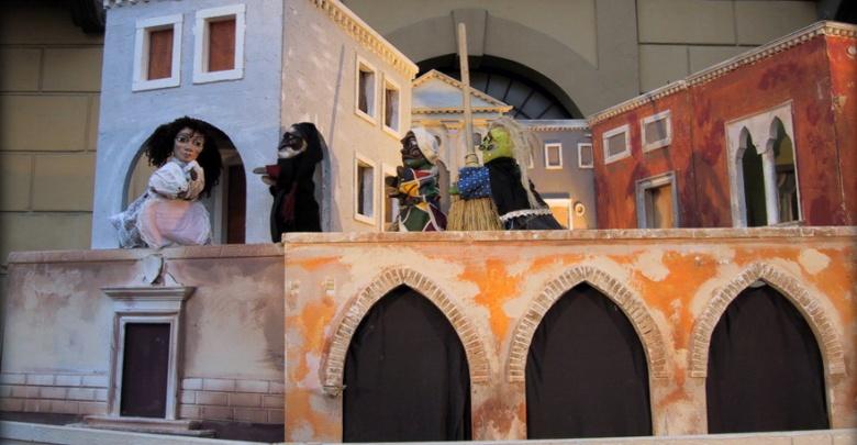 Arlecchino e la Strega Rosega Ramarri - immagine di scena