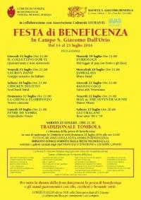 Festa di beneficenza a San Giacomo dall'Orio