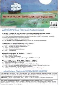 Programma della Festa di San Giovanni in Bragora 2016
