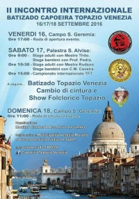 2° Batizado capoeira Topazio Venezia