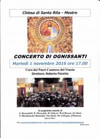 Concerto di Ognissanti - locandina