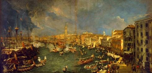 Antonio Stom, La partenza del Bucintoro, olio su tela, post 1729?