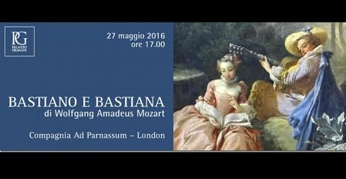 """""""Bastiano e Bastiana"""", opera di Mozart, locandina evento"""