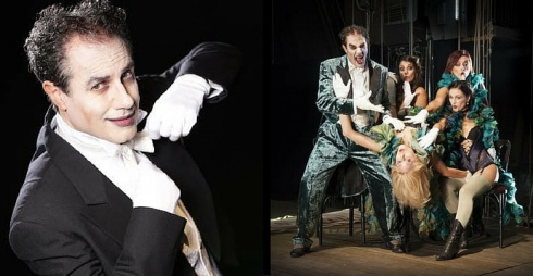 A sinistra Giampiero Ingrassia, a destra foto di scena foto di Giulia Marangoni