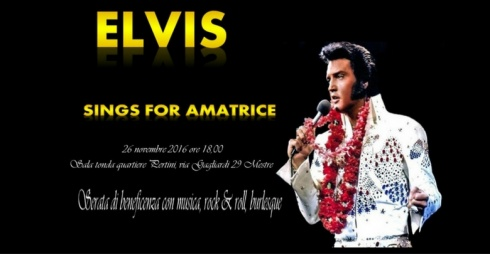 Elvis - Sing For Amatrice - locandina