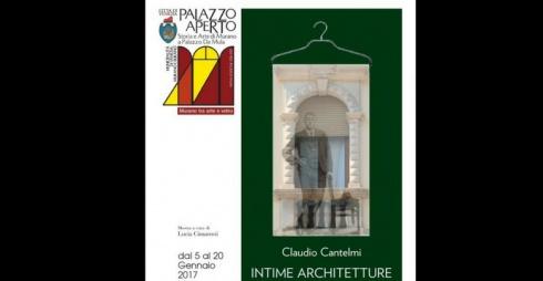 """Locandina della mostra """"Intime architetture - progetti di memorie"""""""