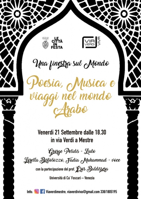 poesia musica araba in via verdi