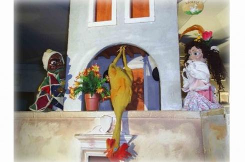 Passa al Goldoni  Il tesoro del Brigante Baffodoca, ovvero Arlecchino all'inferno, immagine di scena