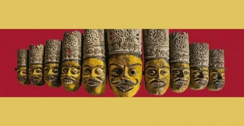 Maschere Rājbanśī - Mostra Ramayana/Rājbanśī masks - Ramayana exhibition