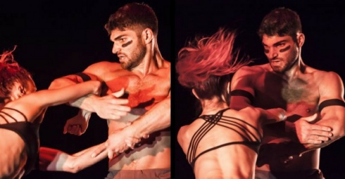 Rouge / Photo : © Joseph Ghaleb / Dancers : Céline Cassone and Christian Denice