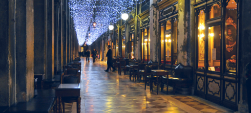 luminarie in Piazza San Marco
