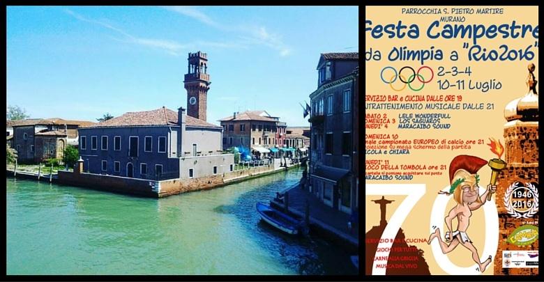 Immagine di Murano e Locandina Festa Campestre